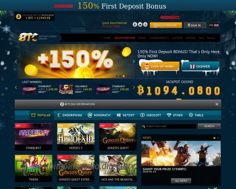 Bitcoin casino free btc 2021